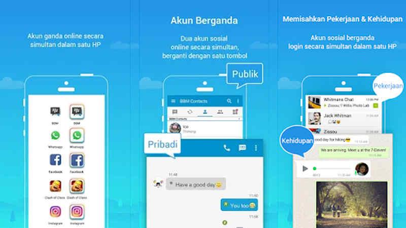 cara menginstal 2 aplikasi whatsapp