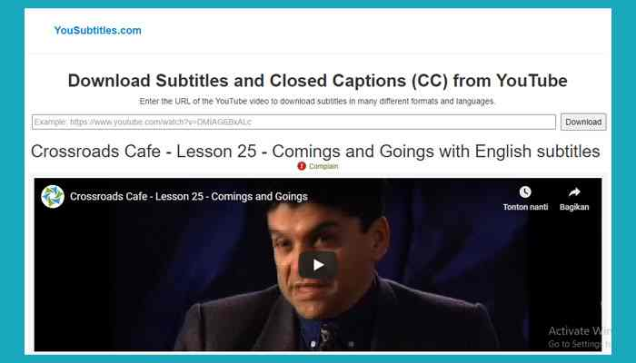 Cara Download Subtitle Dari Youtube Di Pc