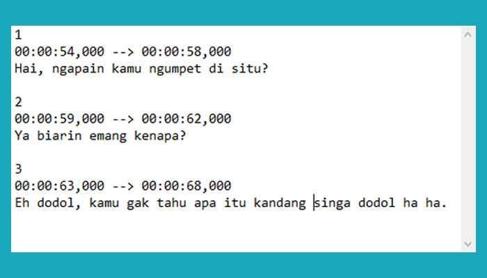 Cara Membuat Subtitle Sendiri