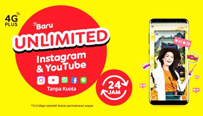 Paket Internet Indosat Unlimited Youtube