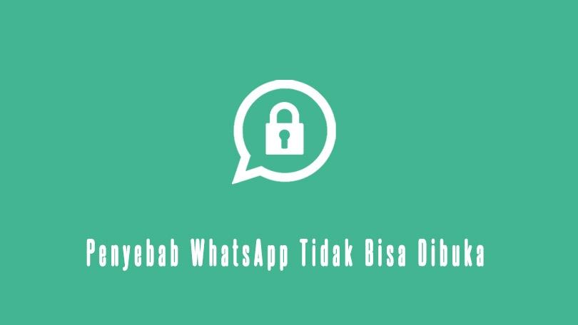 Penyebab Whatsapp Tidak Bisa Dubuka