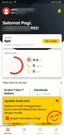 Cara Cek Kuota Indosat Aplikasi Myim3