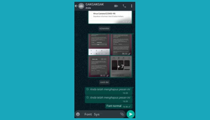 Cara Ganti Jenis Font Di Whatsapp