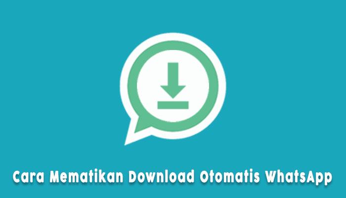 Cara Mematikan Download Otomatis Whatsapp Iphone