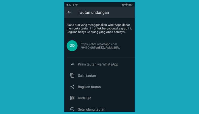 Cara Membuat Link Tautan Grup Whatsapp