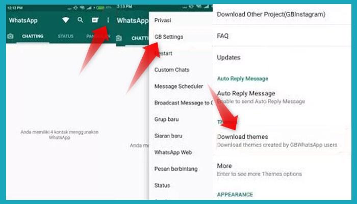 Cara Mengganti Tema Whatsapp Gb