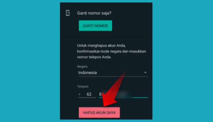 Cara Menghapus Akun Whatsapp Di Hp Orang Lain