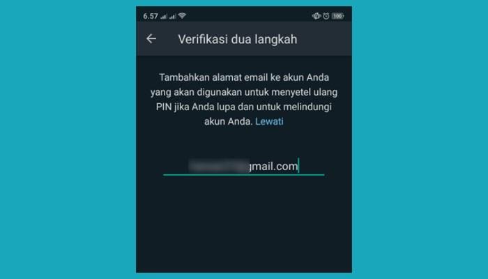 Email Verifikasi 2 Langkah Whatsapp