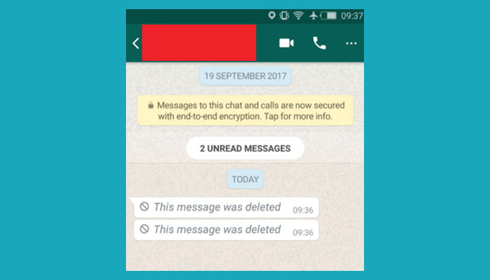 Pesan Yang Sudah Dihapus Di Whatsapp