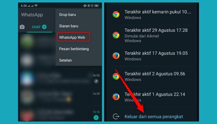 Cara Menghilangkan Notifikasi Whatsapp Web 1