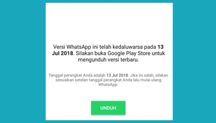 Whatsapp Kadaluarsa