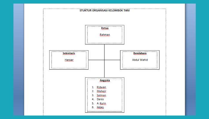 Cara Membuat Bagan Di Word Dengan Mudah