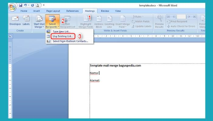Cara Membuat Mail Merge Di Word 2016