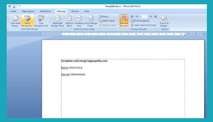 Cara Membuat Mail Merge Di Word Dan Excel