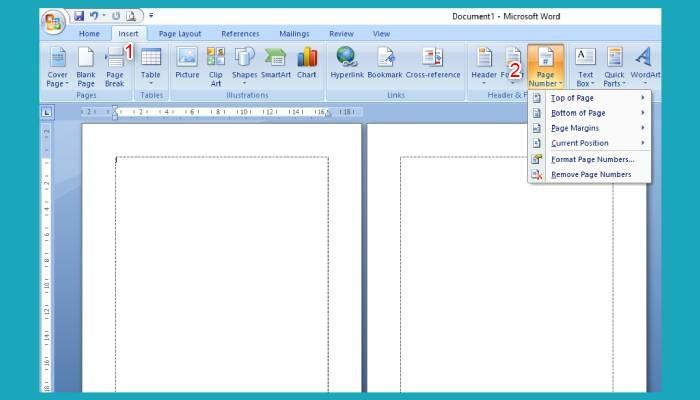 Cara Membuat Nomor Halaman Di Word 2007