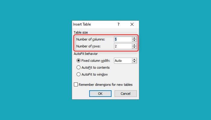 Cara Membuat Tabel Word 2013