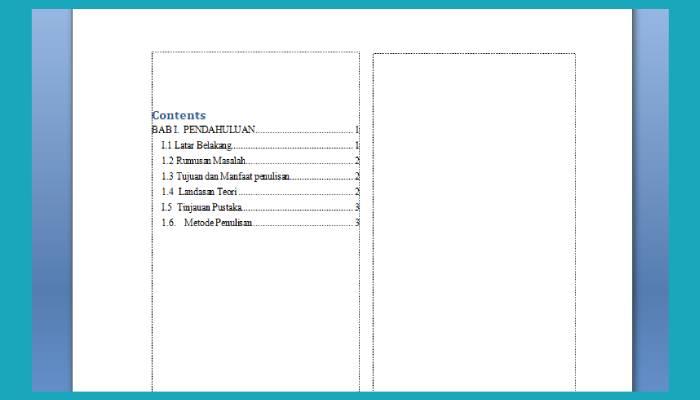 Cara Membuat Table Of Content Di Word