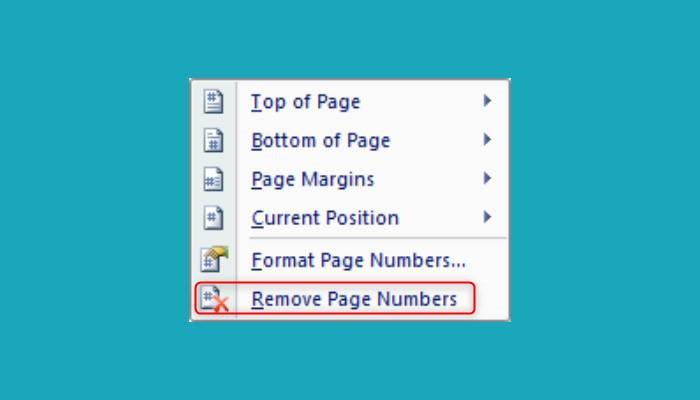 Cara Menghapus Nomor Halaman Di Word