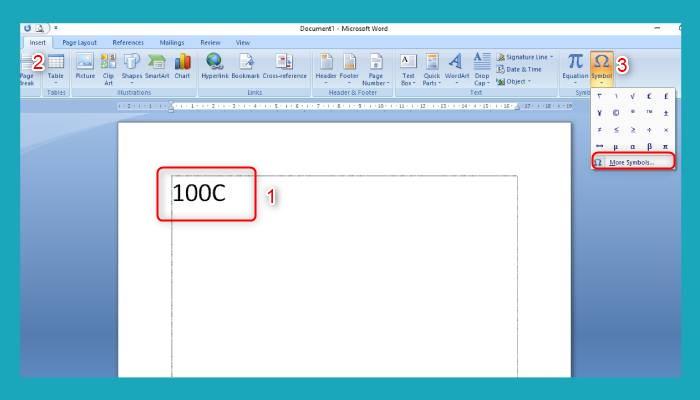 Cara Membuat Simbol Derajat Di Word 2013