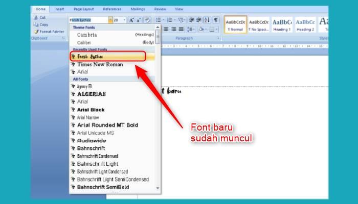 Cara Menambah Font Di Word 2013