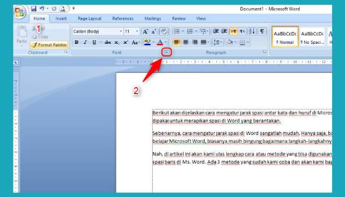 Cara Mengatur Spasi Kata Di Word 2007