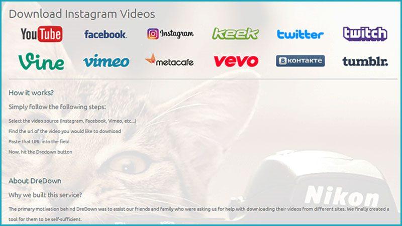 Download Video Instagram Melalui Situs Dredown