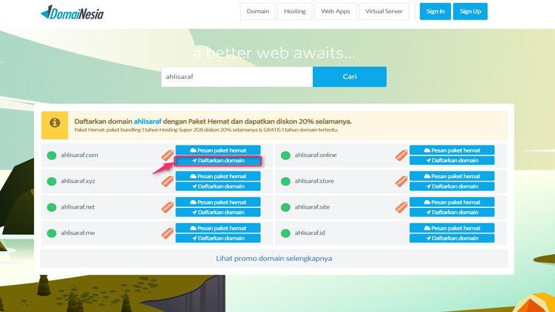 Daftar Domain Di Domainesia