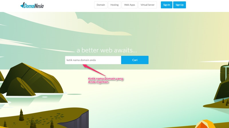 Mencari Ketersediaan Domain